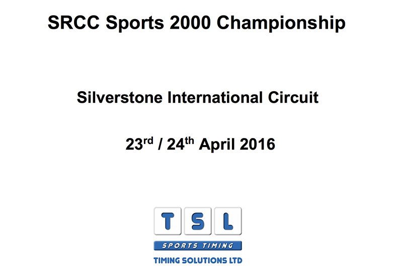 Sports 2000 Championship Silverstone International race results