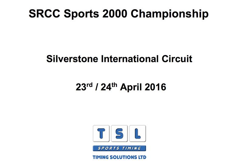 Sports 2000 Championship Silverstone International race results
