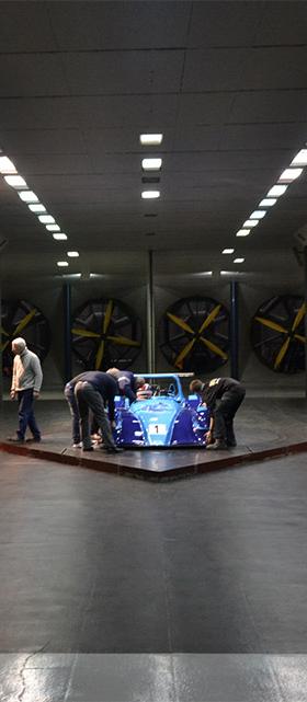 MCR Racing Cars MIRA wind tunnel