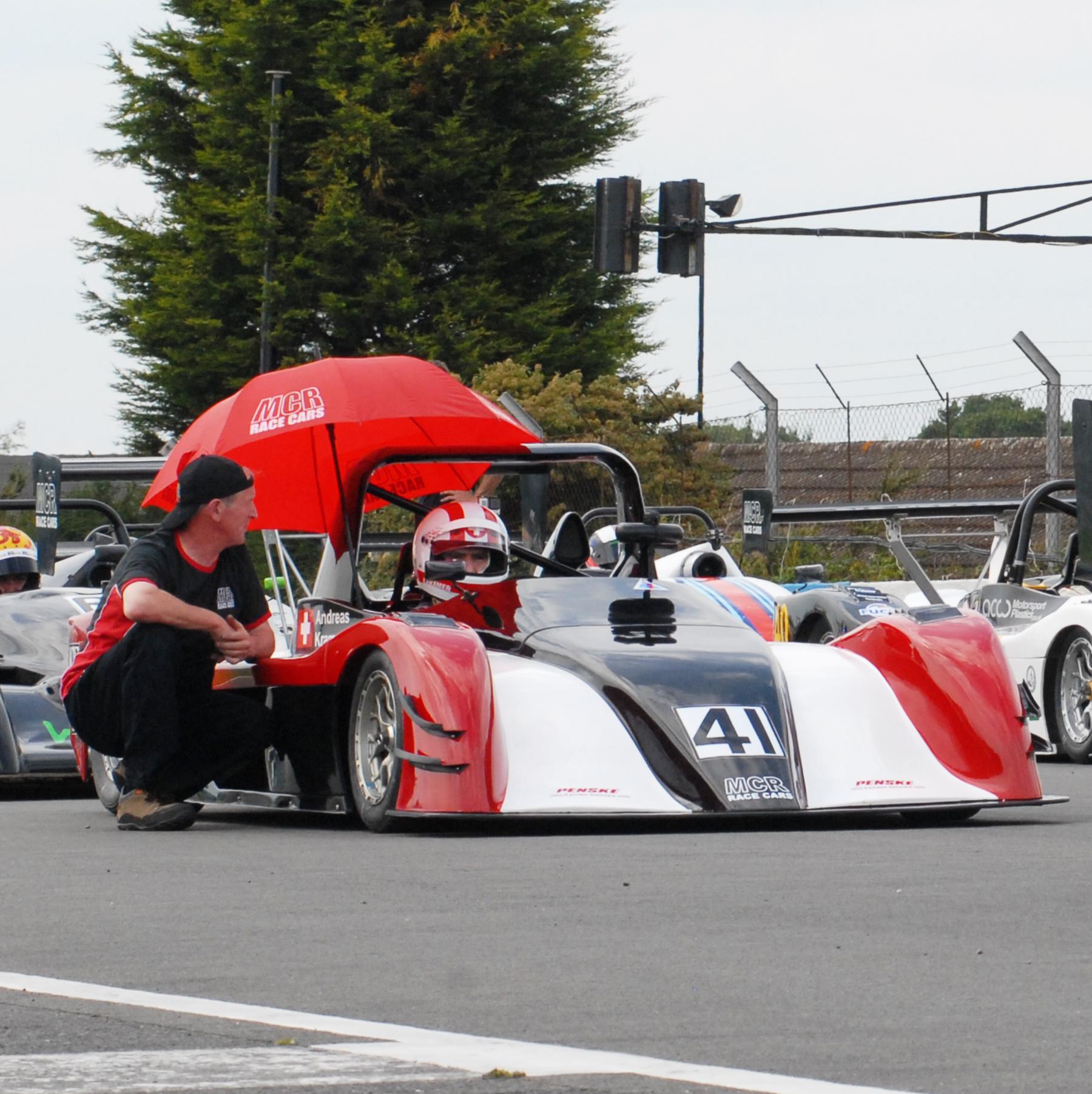 Andreas Kramer MCR Race Car driver Donington Park