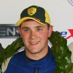Michael Gibbins MCR Racing Car driver podium